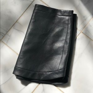 NWT BCBG leather skirt